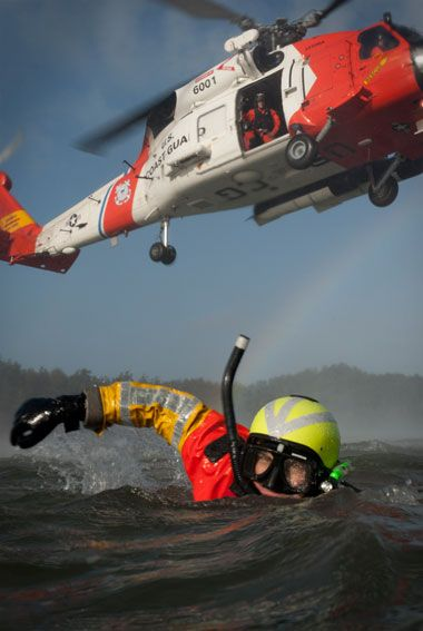 Go US Coast Guard! My son would be in the helo!
