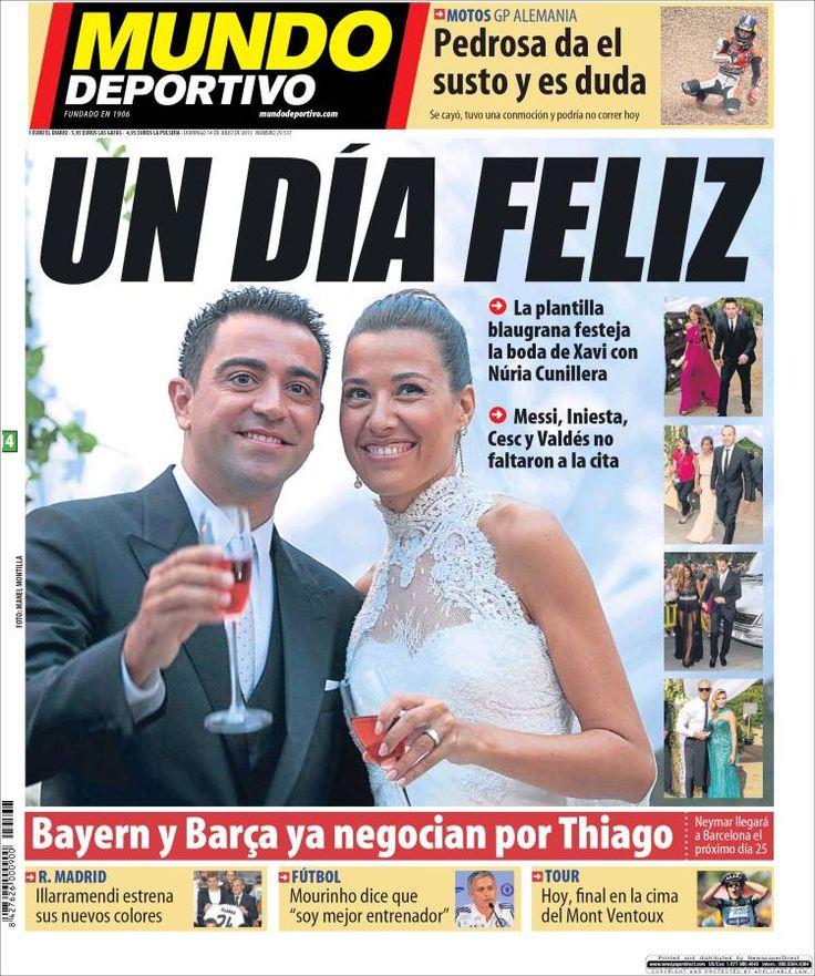Los Titulares y Portadas de Noticias Destacadas Españolas del 14 de Julio de 2013 del Diario Mundo Deportivo ¿Que le parecio esta Portada de este Diario Español?