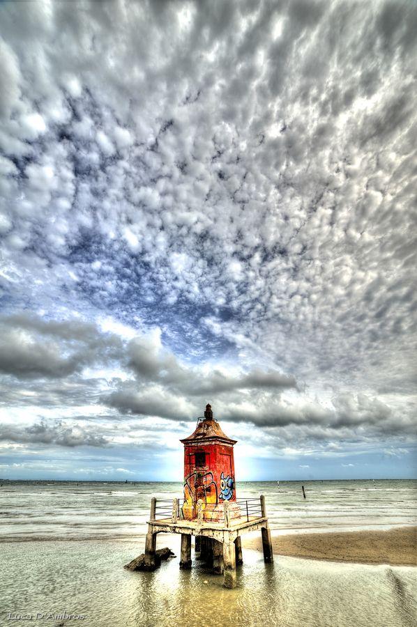 Lighthouse in #Lignano Sabbiadoro, Udine, #Italy
