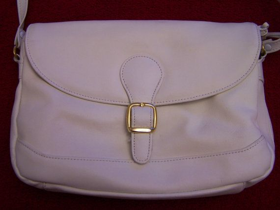 Very soft white leather purse handbag clutch by MonasChickenRanch, $20.00  Perfect for Easter.