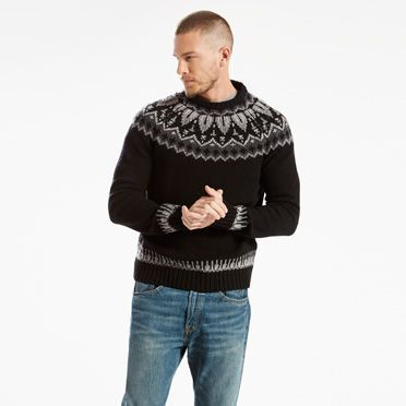 Made from wool, this sweater is your warmest option for the coldest of  days. Features a standard fit and classic Fair Isle print.