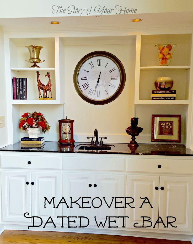 Living Room Makeover Part I Wet Bar Cabinets Office