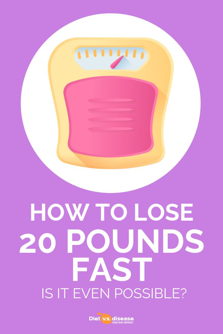 How to Lose 20 Pounds Fast: Is It Even Possible