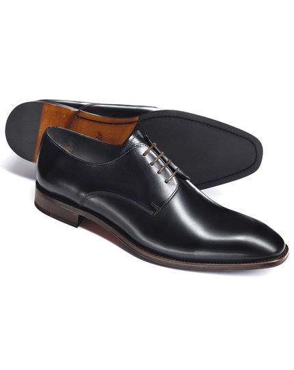 Blue Grosvenor Derby leather shoes