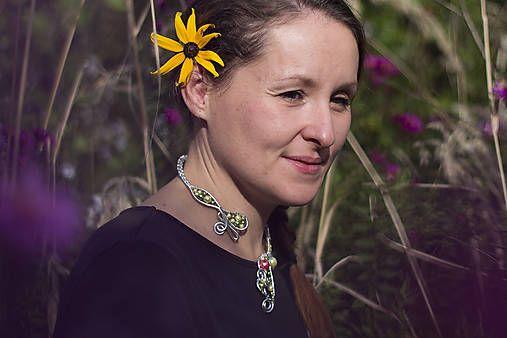 Hanmade by Helenee. Springish original beautiful necklace