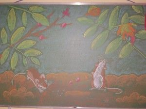 Waldorf ~ 4th grade ~ Human & Animal ~ Mouse ~ chalkboard drawing ~ http://www.waldorf-ideen-pool.de/index.php?aid=2004