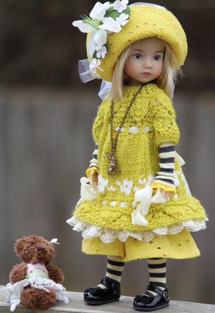 "Heirloom Spring Collection Dress Set For 13""  Effner Little Darling by Barbara #DiannaEffner. SOLD for $78.54 on 2/7/15"