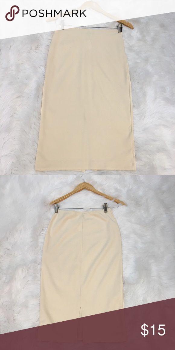 Women's Glove Skirt Women's Cream Glove Skirt (Size Large)  Brand; American Apparel  Material; 60% Rayon 35% Nylon 5% Elastane  Care; Hand Wash American Apparel Skirts
