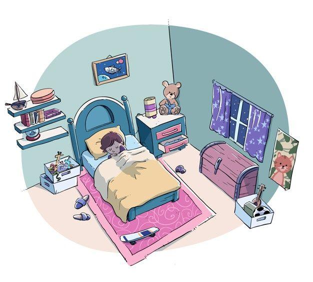 Nino Durmiendo Tranquilamente En La Cama Premium Vector Freepik Vector Libro Casa Dibujos Animados Chico Ninos Dormido Ninos Alegres