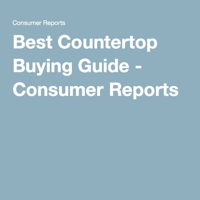 Consumer Buying Guide