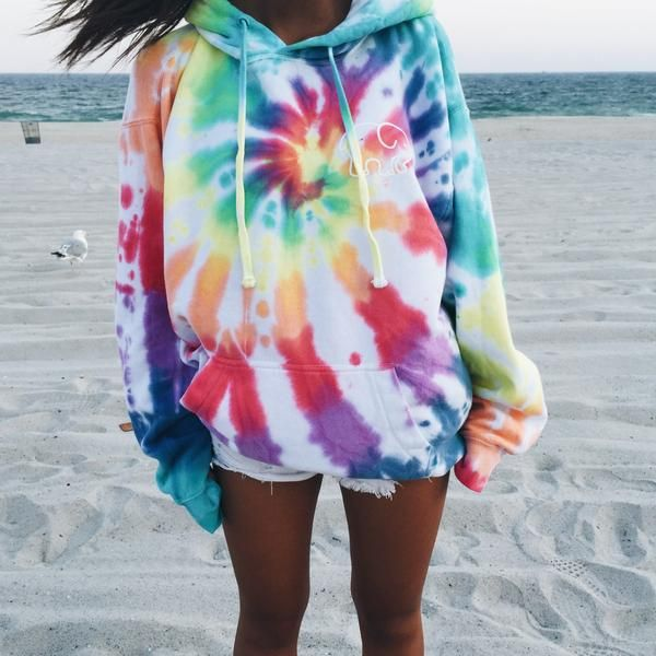 Ivory Ella tie-dye oversized hoodie. I also like their navy tie-dye one as well as their turquoise & purple tie-dye one.