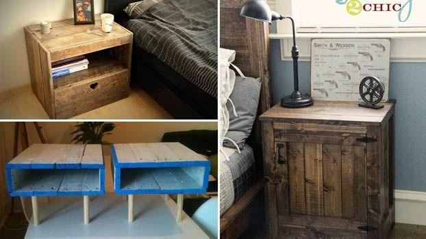 Comodini economici con bancali in legno