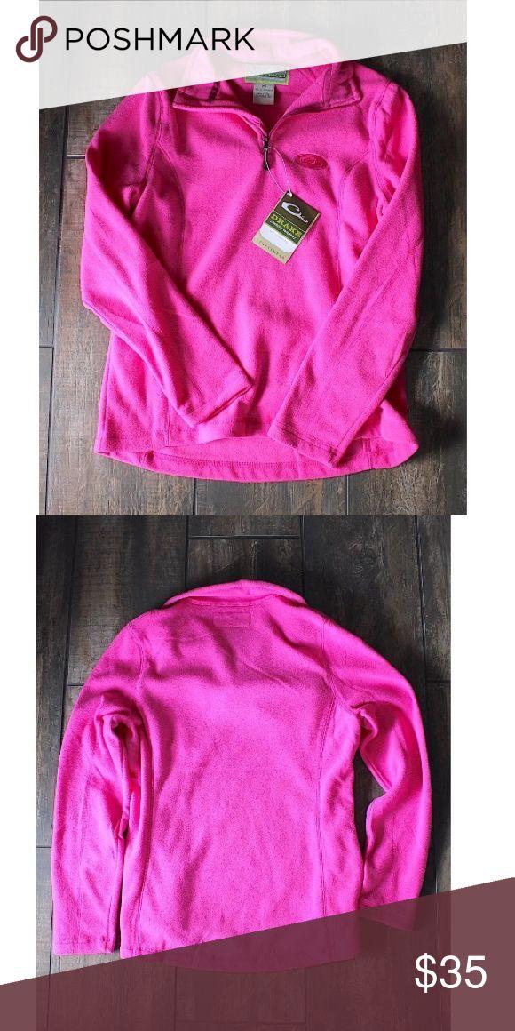 Drake NWT Pink Waterfowl Camp Fleece Pullover Brand new Lady Drake pink fleece sz M Drake Tops Sweatshirts & Hoodies