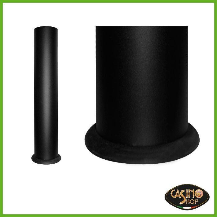 ART.0085 Gambe in metallo dal diametro di 120 mm, colore finitura nero.  Gambe complete di attacchi per poter esser fissate su qualsiasi piano.  Confezioni: 4 PZ