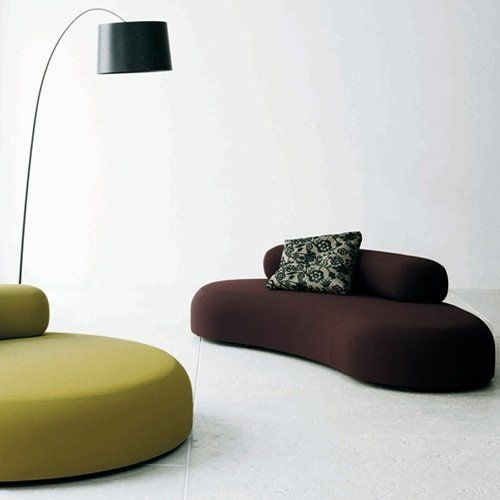 Hall Furniture, Furniture Design, Curved Sofa, Sofa Design, Fabric Sofa,  Isamu Noguchi, Lamp Ideas, Office Interiors, Diapers