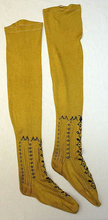 Stockings: 1882,  French (http://www.metmuseum.org/Collections/search-the-collections/80054667?advsrc=true=true=french=silk=any=any=8=date-earliest=Between=739=60=14=805)