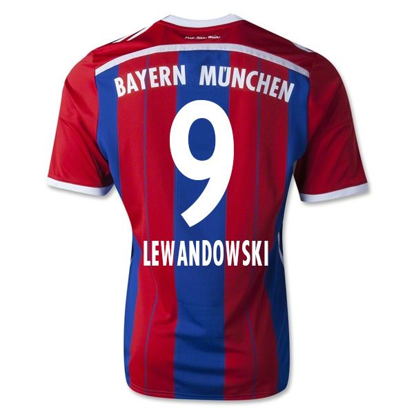 Men's FC Bayern Munich Robert Lewandowski 9 Home Soccer Jersey (US Size  Large)
