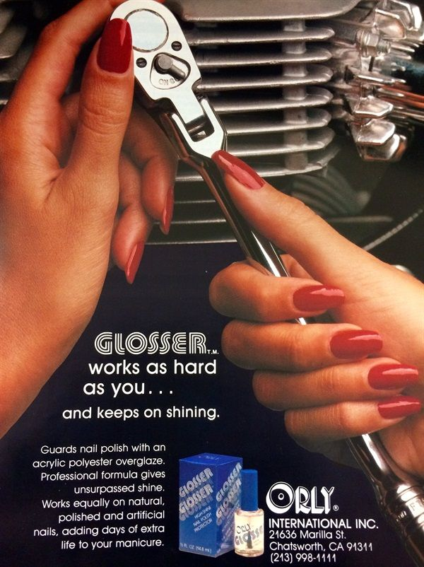 <p>Orly's first ad in NAILS (the March 1983 issue)</p>
