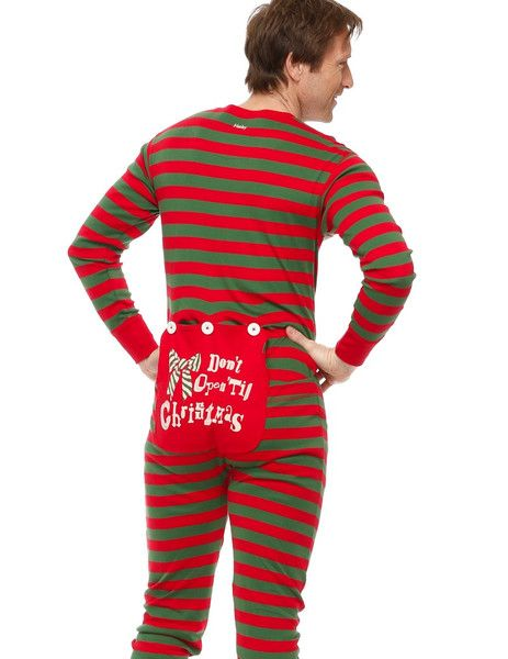 Hatley Holiday Stripe Mens All in One Pyjamas (Union Suit ...