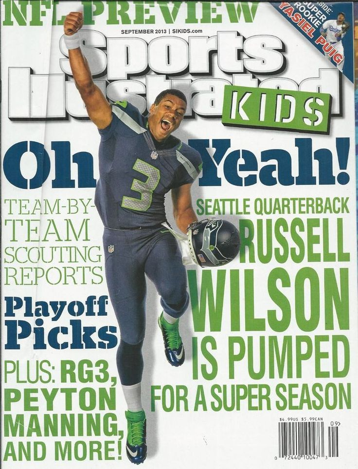 Sports Illustrated Kids magazine Russell Wilson NFL preview Yasiel Puig Playoffs