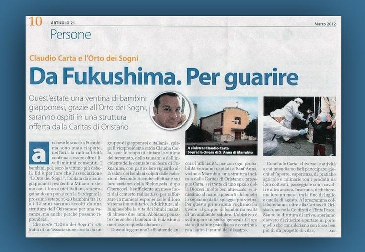 Da fukushima per guarire