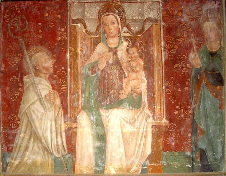Rivalta Scrivia's Abbey. Fresco