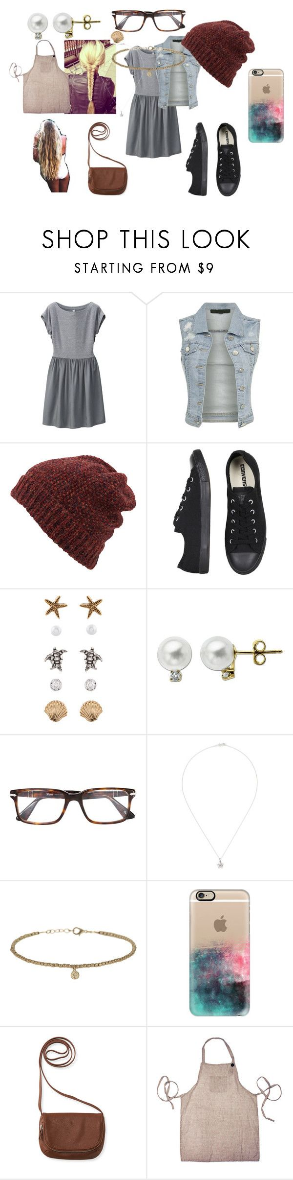 """""""Ava"""" by gilliski ❤ liked on Polyvore featuring Uniqlo, Inverni, Converse, Belle Vie, Accessorize, Lord & Taylor, Persol, Khai Khai, Topshop and Casetify"""