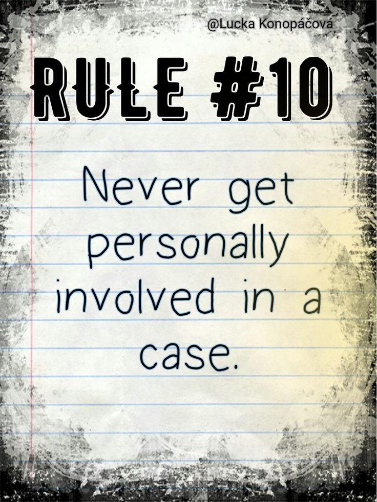NCIS Gibbs rule #10