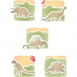 Have Stencils for Walls' Dinosaurs Stencil watch over your little boy while he sleeps. Cheap, easy to use and very effective. Stencilling is a versatile and exciting way to accessorize on any flat surface of your choice. Our stencils produce high quality designs with minimum fuss.