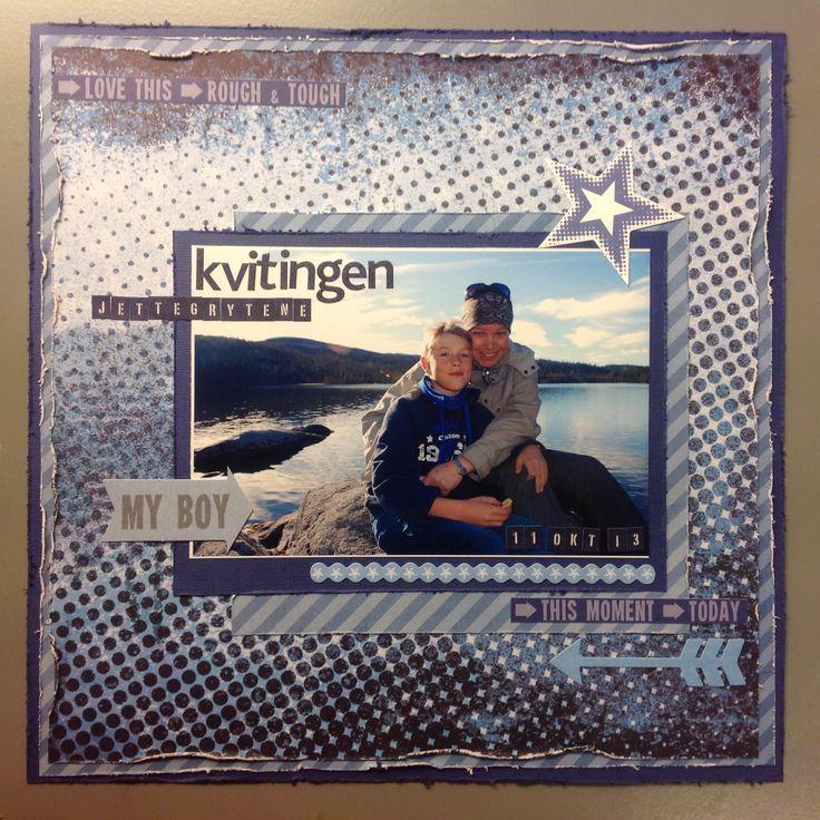 Gode minner fra høstferietur på hytta. Scrappet med kit fra Kaiser Kraft.