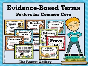 Remind students to prove their answers with these evidence-based terms posters for Common Core on display. ($)