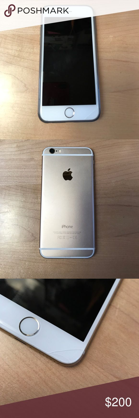 Gold iPhone 64GB, Sprint Small (very small) crack on bottom right of screen (see photo). Works great, just selling because I upgraded. Paid full price for it less than a year and a half ago ($799). Thanks! Other