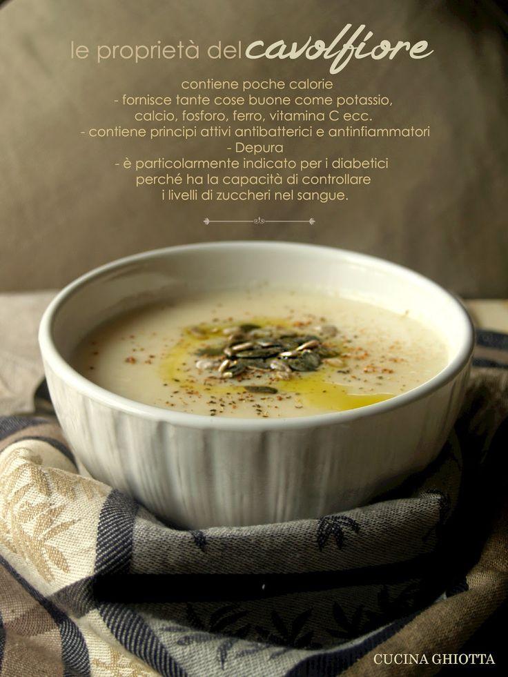 Cucina Ghiotta: Crema di cavolfiore al latte con noce moscata