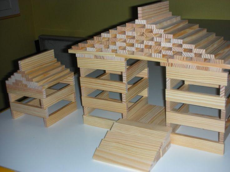 modèle maison en kapla | Modele kapla, Kapla, Maison