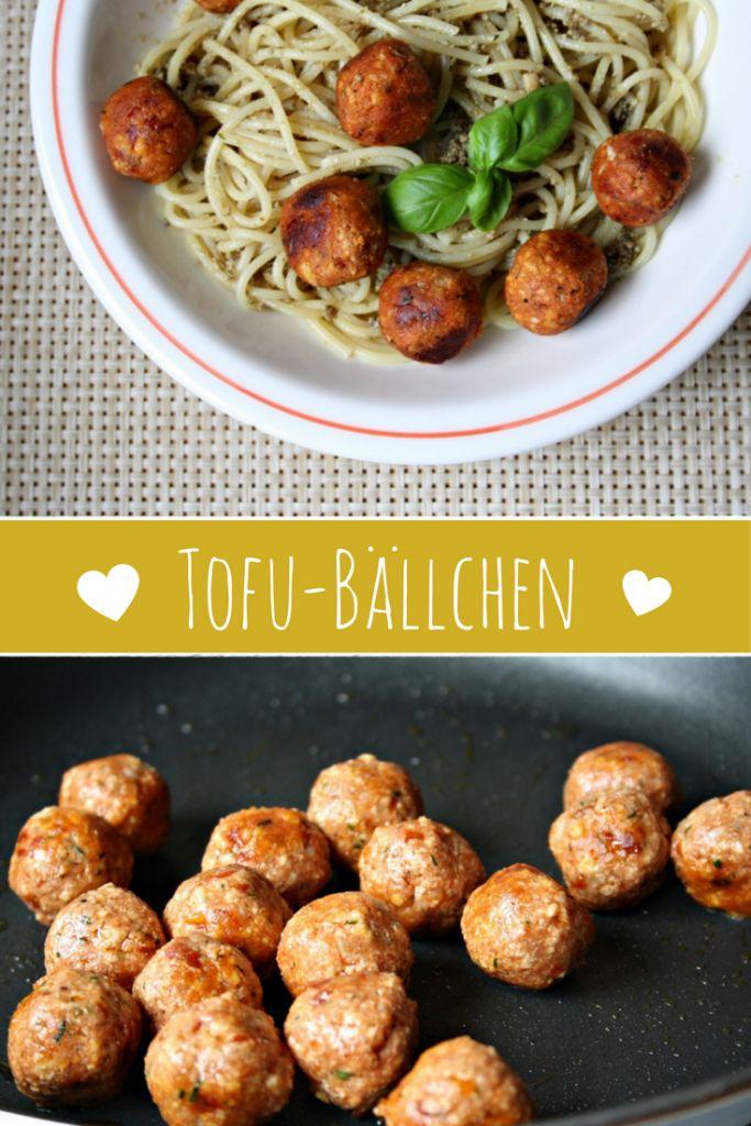 Vegane Tofubällchen mit mediterranen Kräutern und getrockneten Tomaten http://homemade-deliciousness.net/verdammt-lecker-tofuballchen-mediterran/