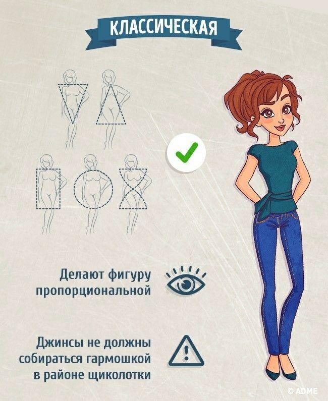 Как выбрать джинсы для своего типа фигуры