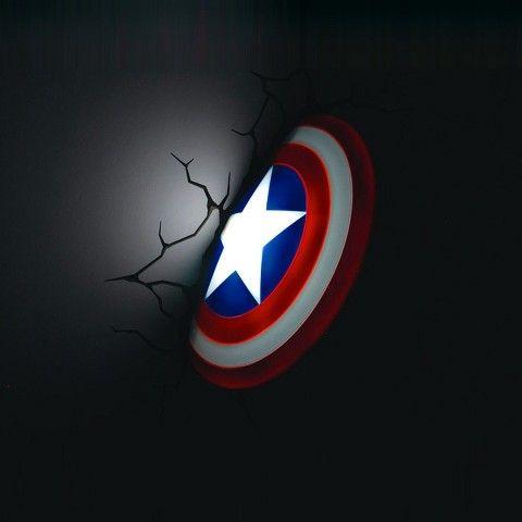 The Avengers 3D Wall Art Nightlight - Captain America