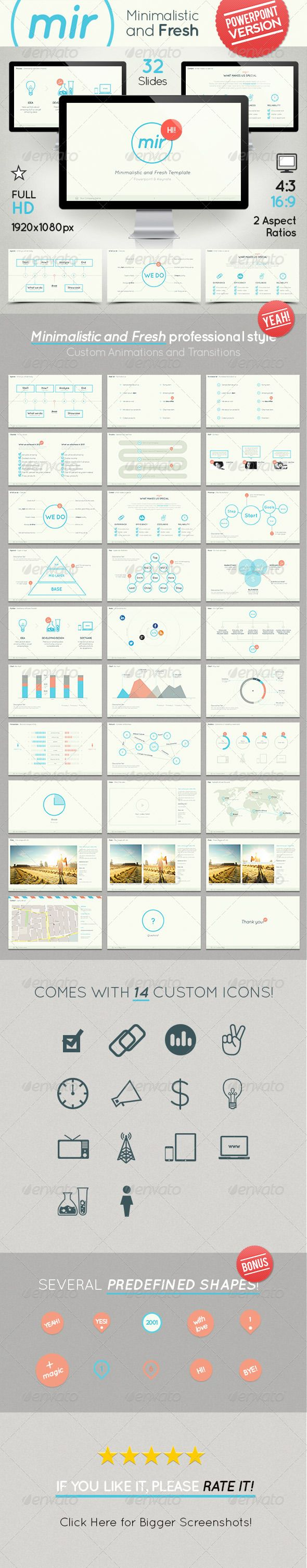 Mir - Minimalistic and Fresh Powerpoint Template - Powerpoint Templates Presentation Templates