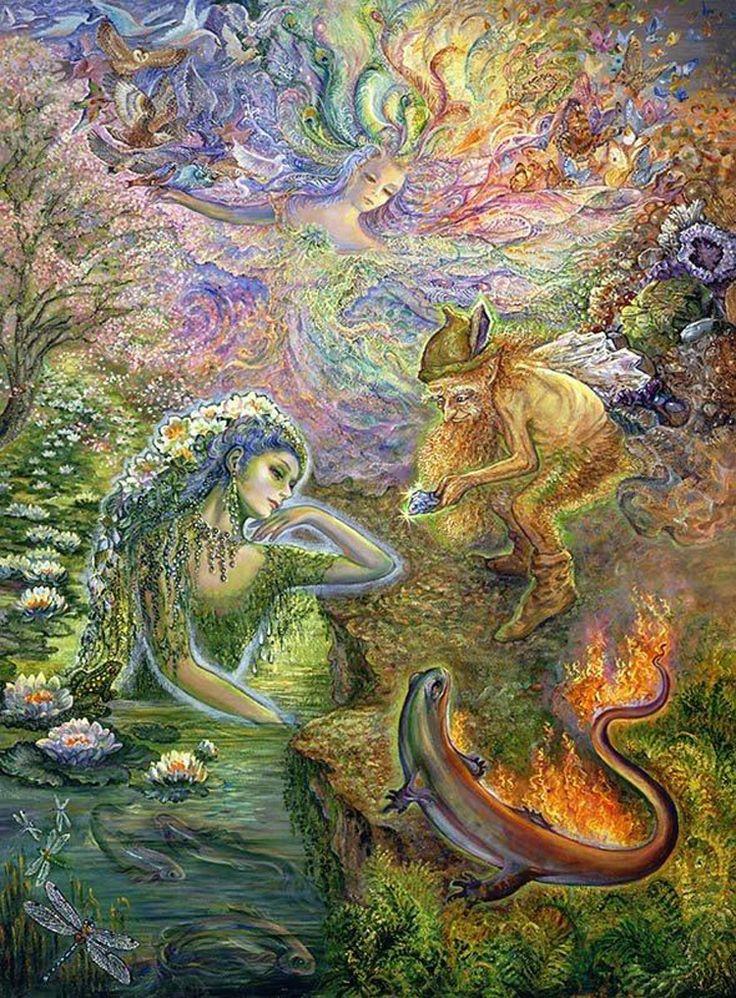 """The Elementals"" par Josephine Wall"