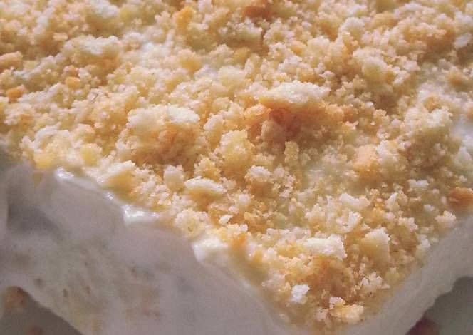 Ritz cracker ice cream. I like to use coconut cream pudding and put toasted coconut on top when finished. So yummy!