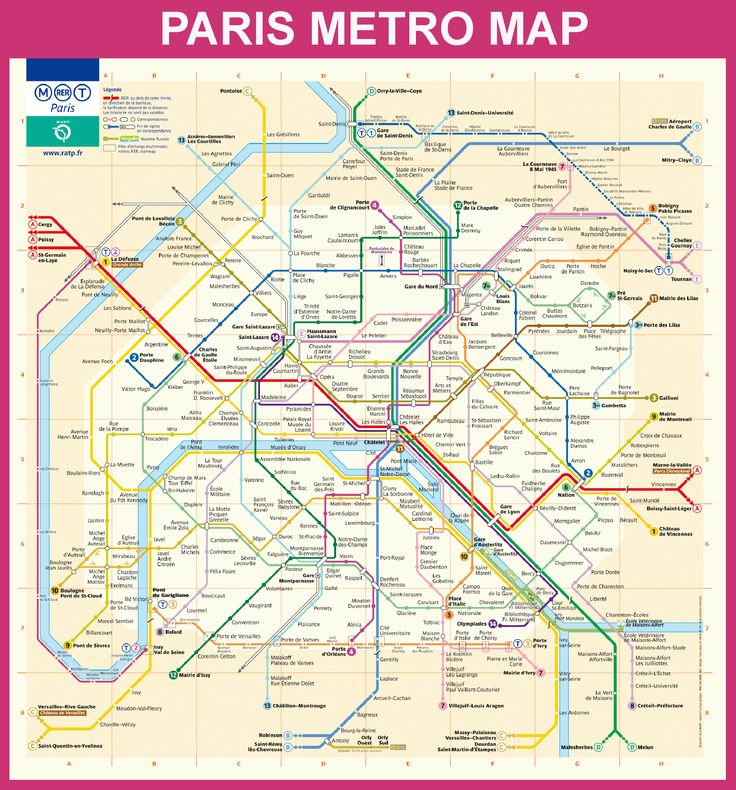 Paris (oficial) metro map - Paris underground map