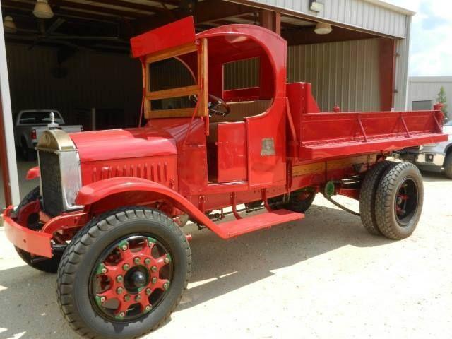 1928 Mack AB model dump truck