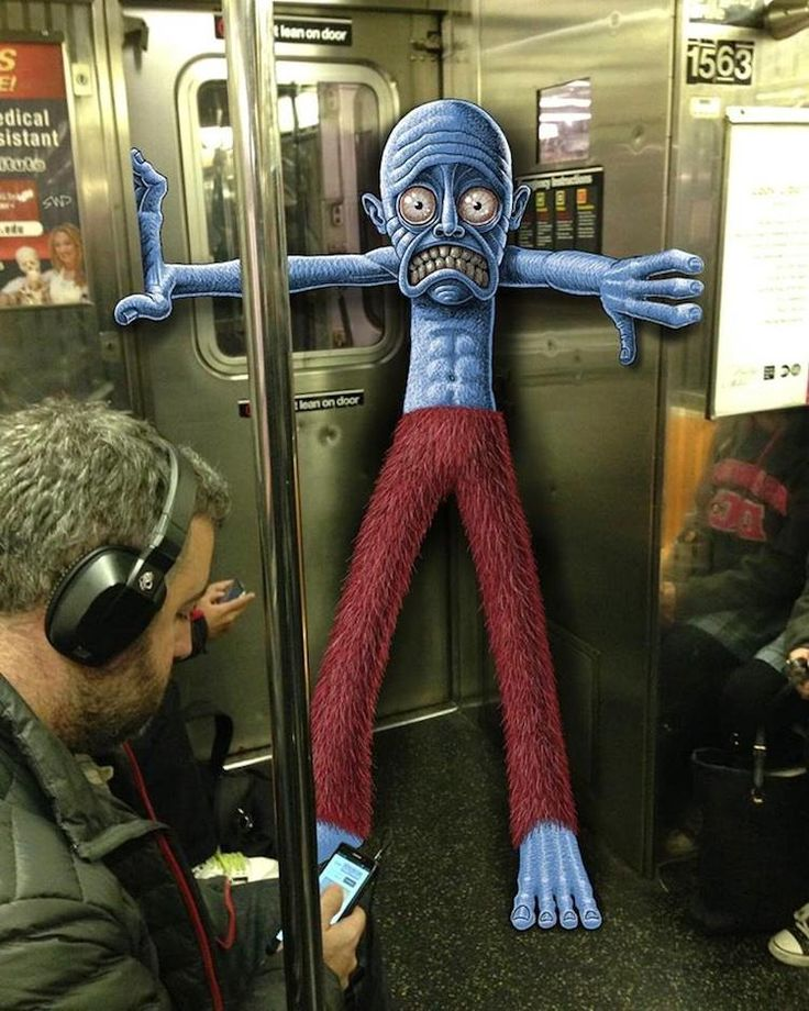 Subway Doodle: Illustrated Monsters and Doodles Over NY City Photos, http://photovide.com/subway-doodle/