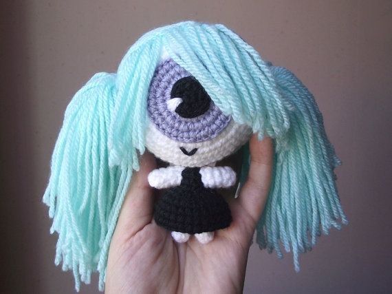 Cecilia the cyclopette crocheted doll  Pattern PDF by PetitsPixels, €4.00