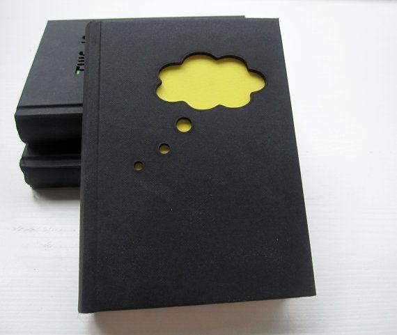Cuaderno 'idea' - cuaderno de dibujo en blanco / diario - con un láser de corte cubierta