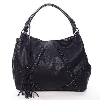 Černá dámská kabelka s originálním vzorem  #MARIA C Glauce