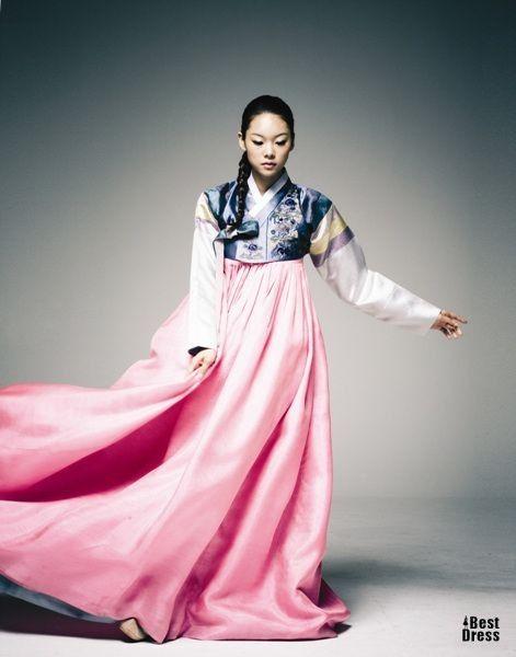 Gorgeous pink and blue 한복 Hanbok / Traditional Korean dress
