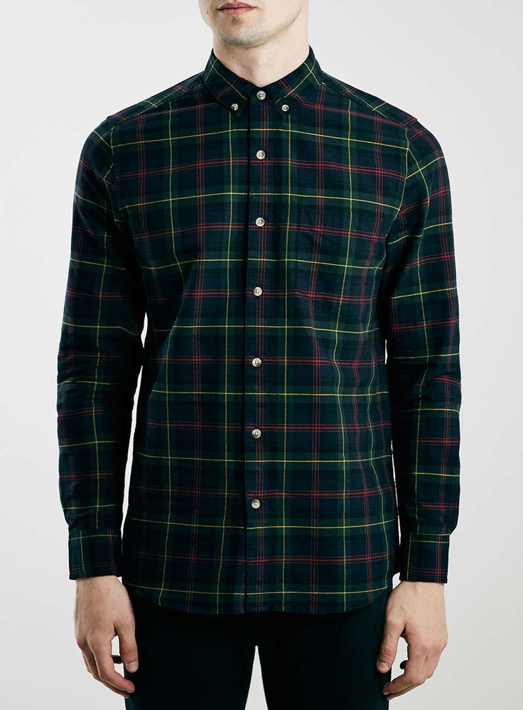 Green Tartan Long Sleeve Shirt