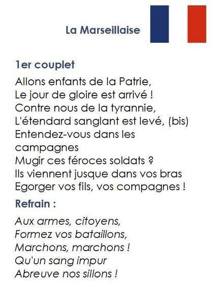 Chant De La Marseillaise Paroles