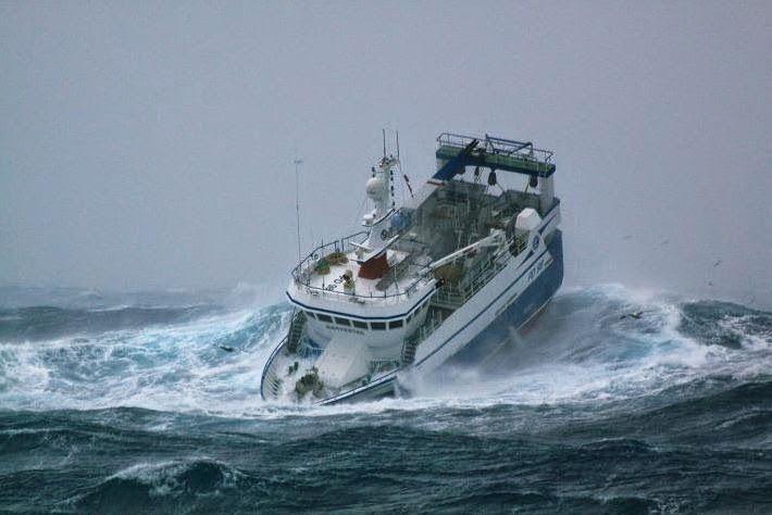Belle tempête en Atlantique.